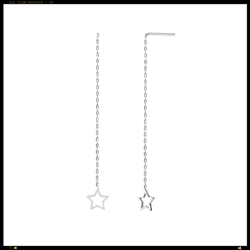 Earrings Threader Star