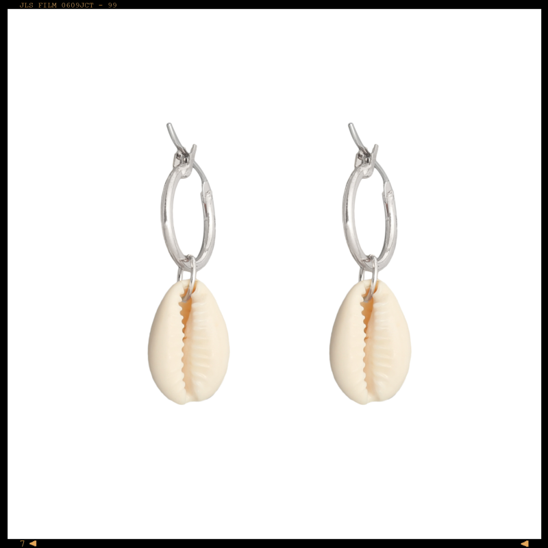 Earrings White Shell