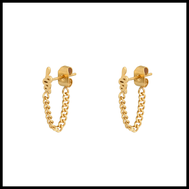 Earrings Chained Snake