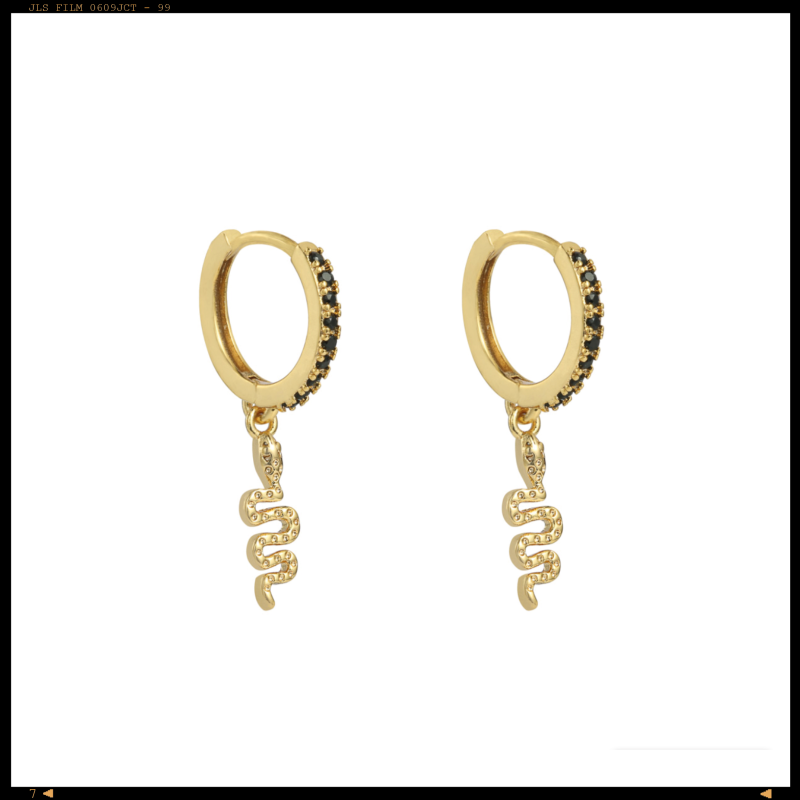 Earrings Black Serpent