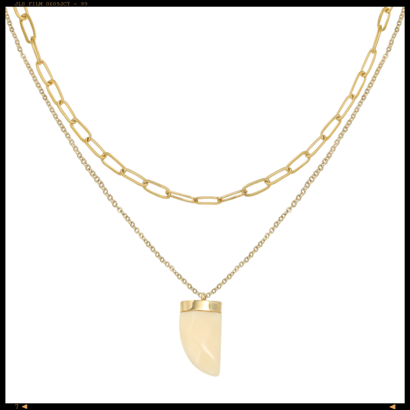 Necklace Chained Tooth