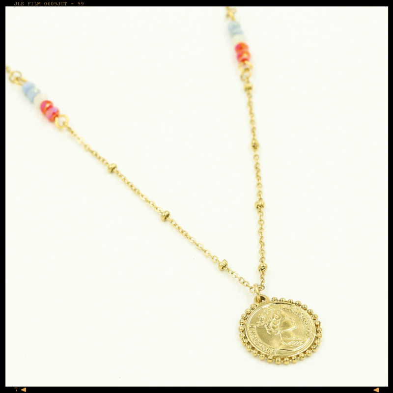 Necklace Colored Coin