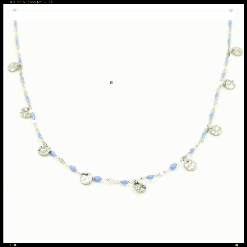 Necklace Blue Coins