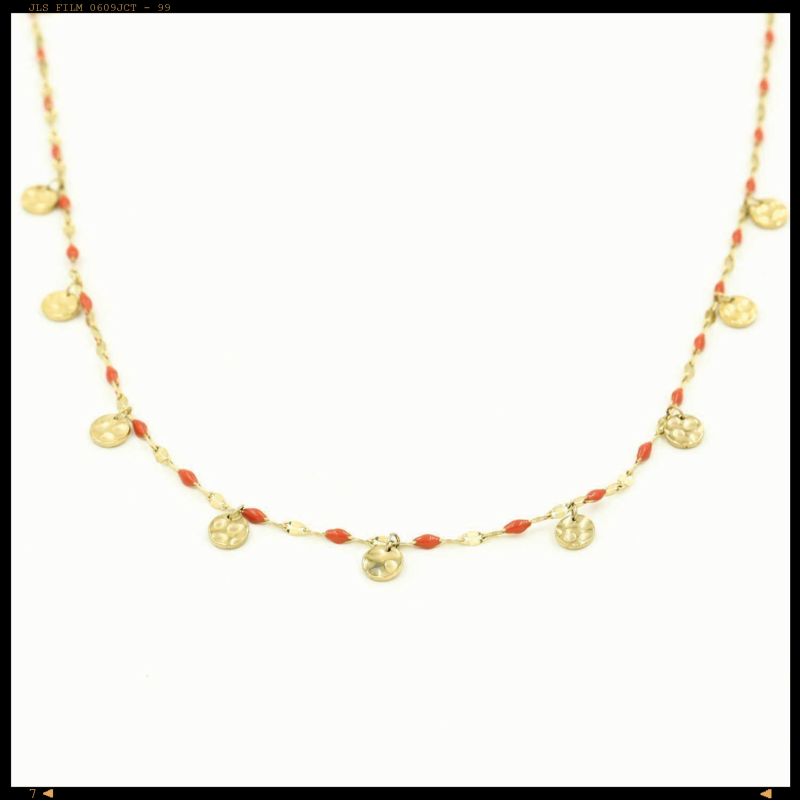 Necklace Red Coins