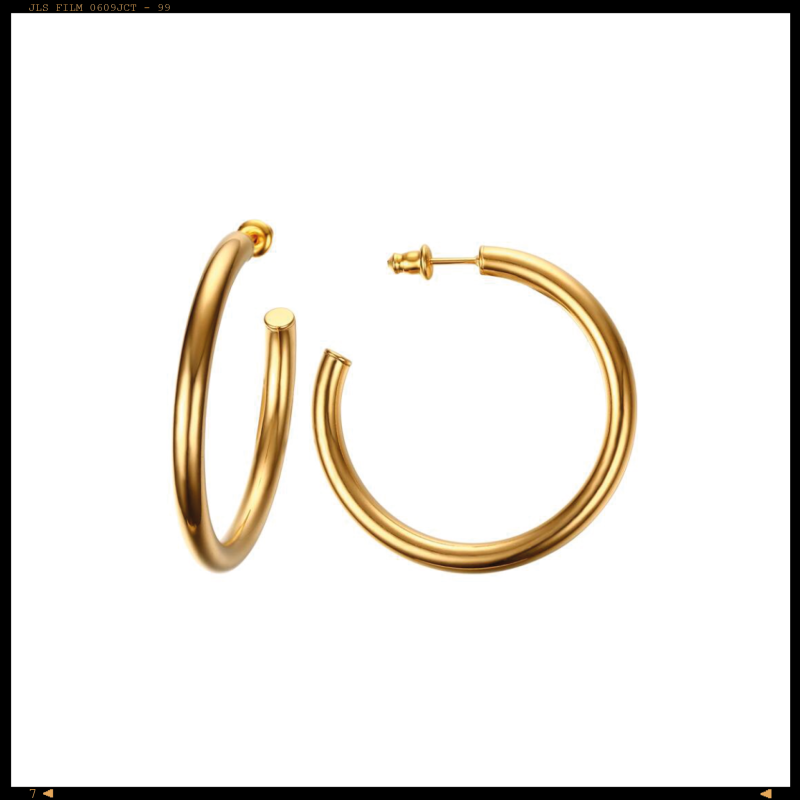 Earrings Minimalistic Big Open Hoop