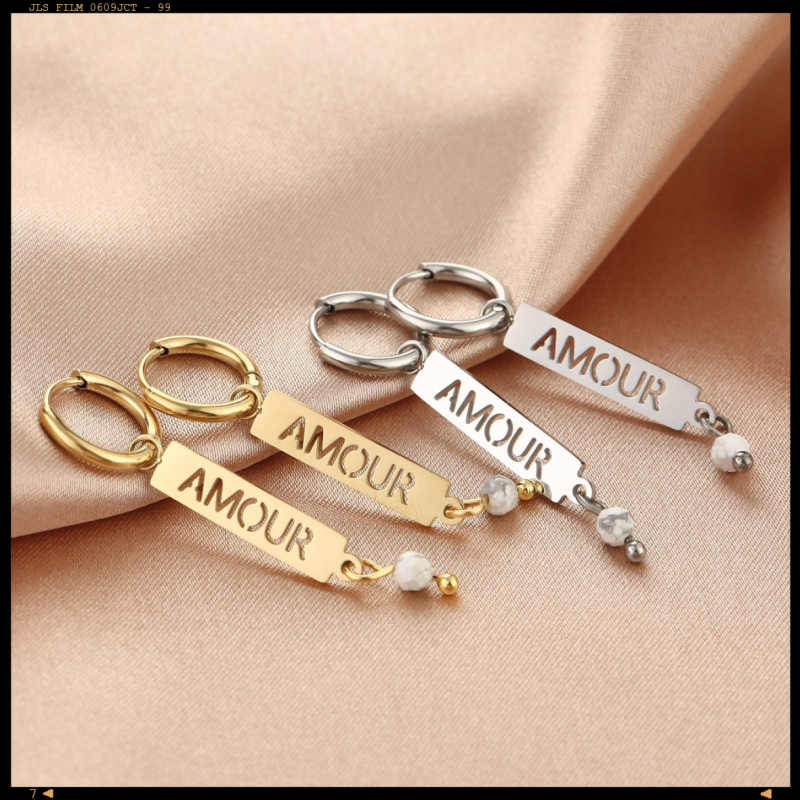 Earrings Plated Amour