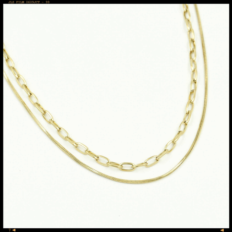 Necklace Double Layered Chain
