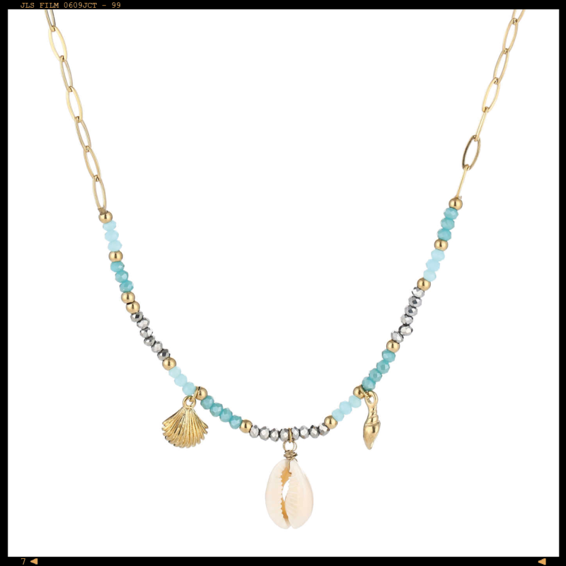 Necklace Shells Blue Happiness