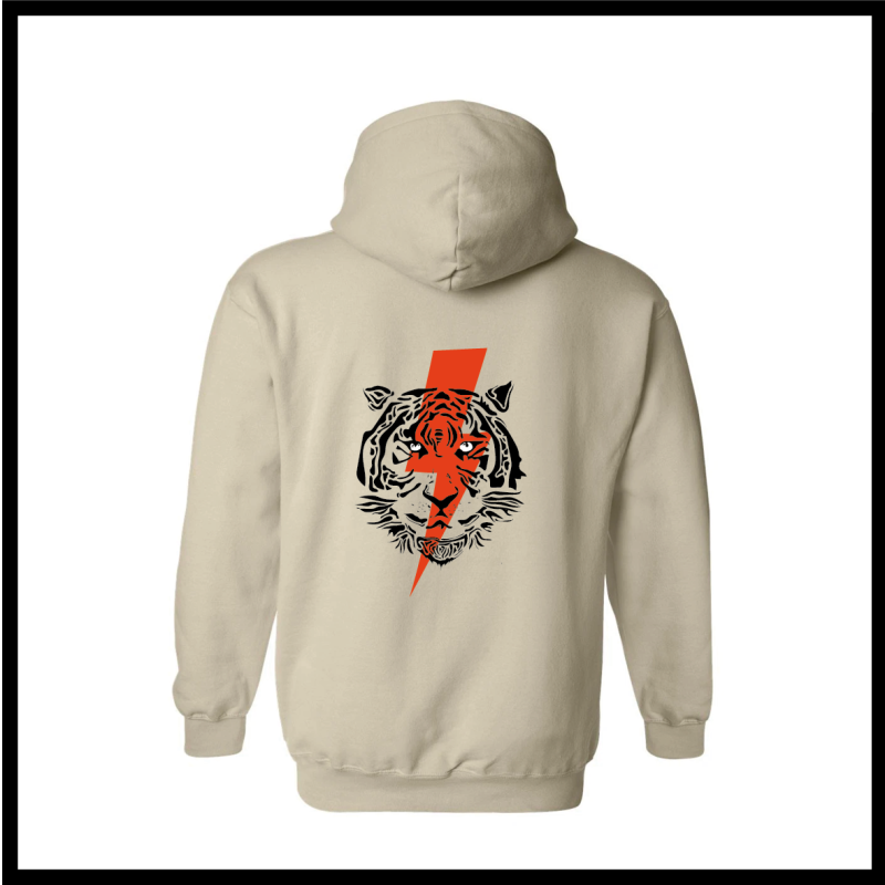 Customized Hoodie Lighting Tiger