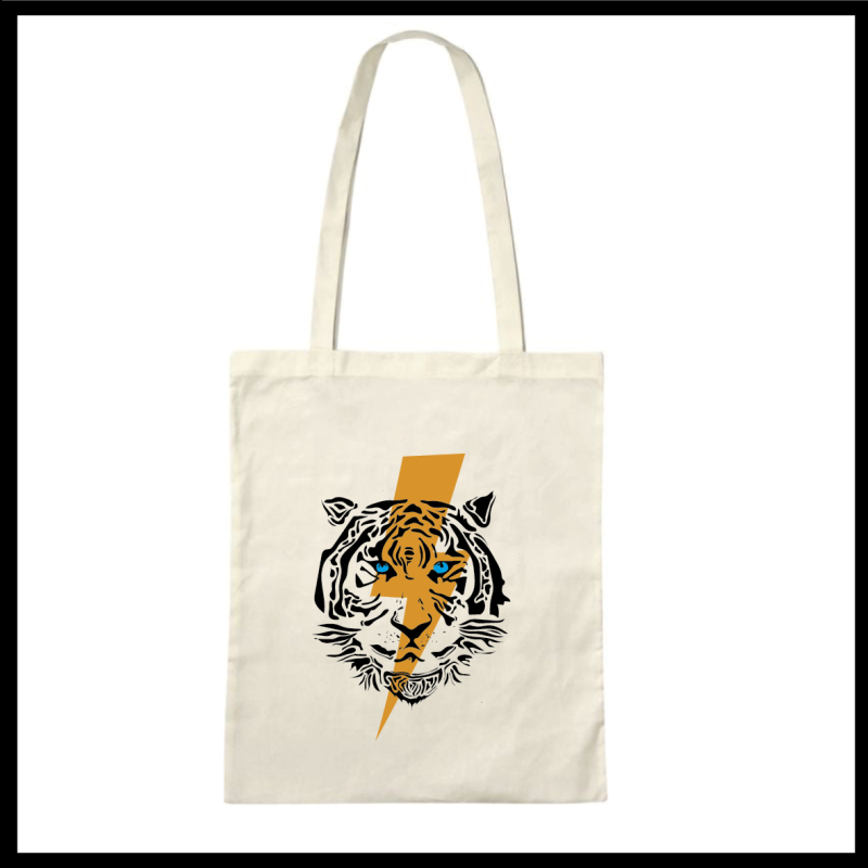 Tote Bag Beige Tiger (Customized!)