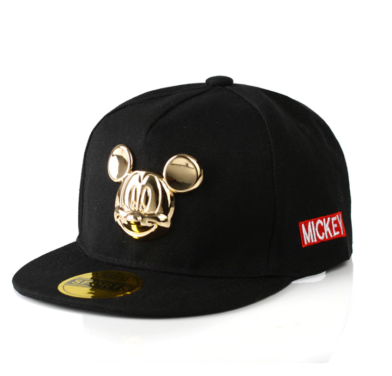 Black and Gold Mickey Mouse Cap