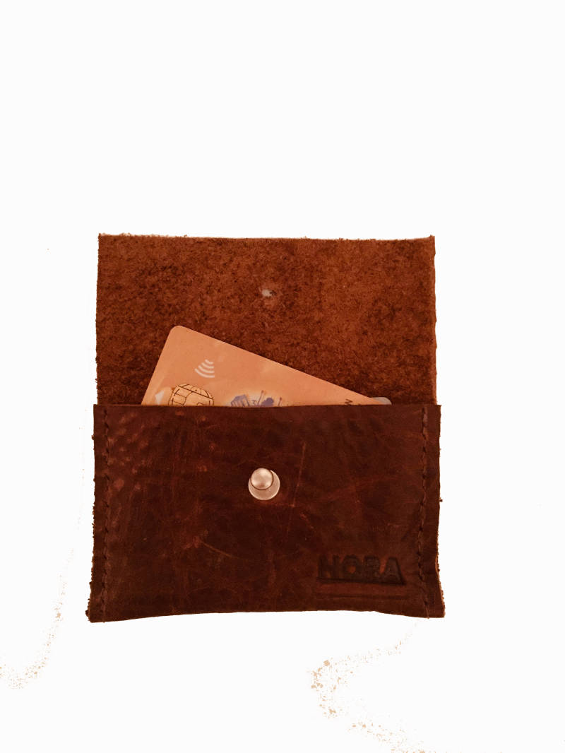 CARD WALLET BROWN