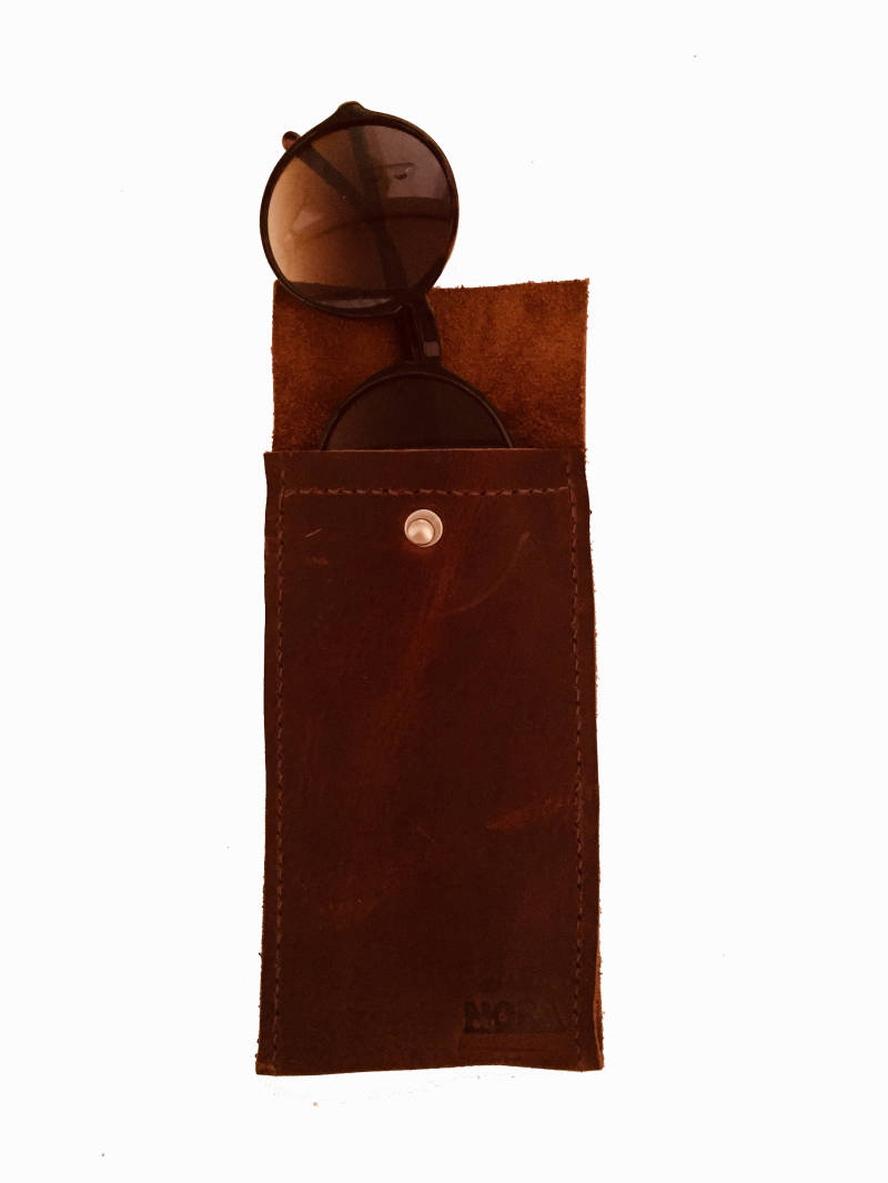 EYEWEAR CASE BROWN