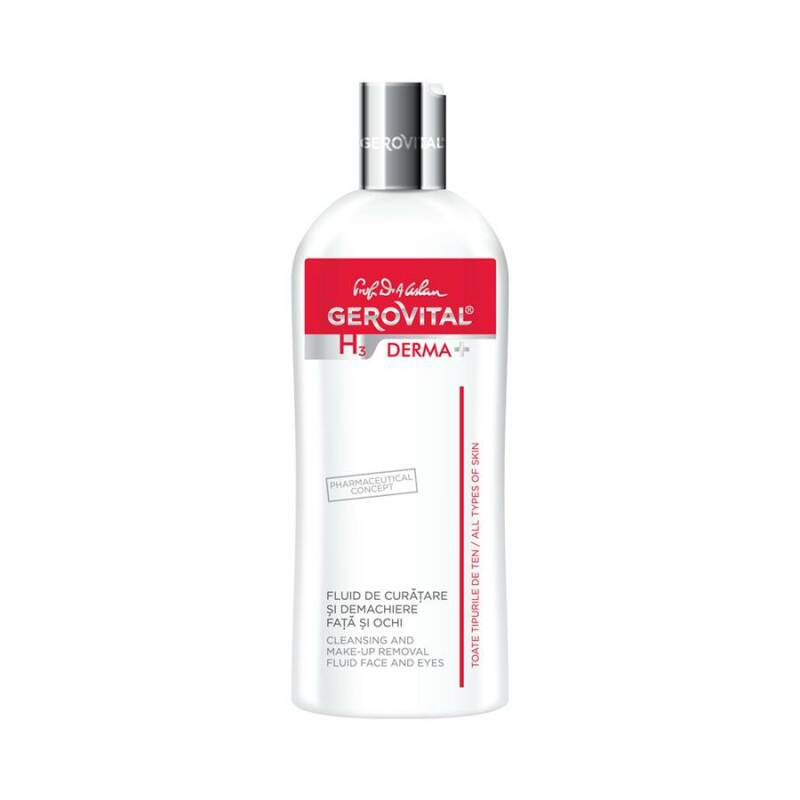 Gerovital H3 Derma+  Cleansing and Make-up Removal Fluid Face and Eyes
