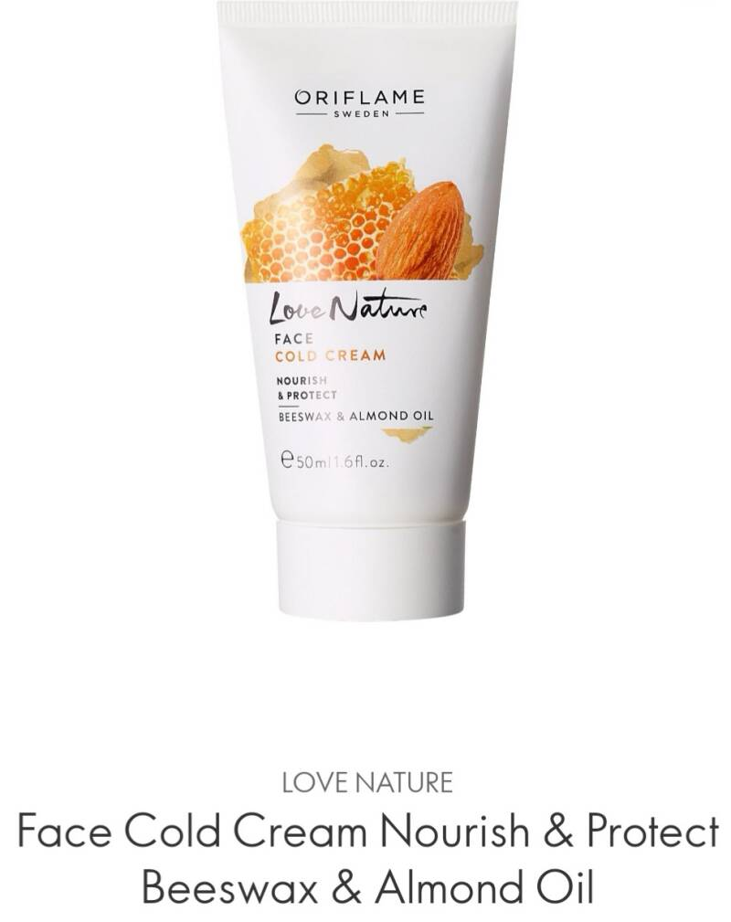 Love Nature Face Cold Cream Nourish&Protect Beeswax&Almond Oil