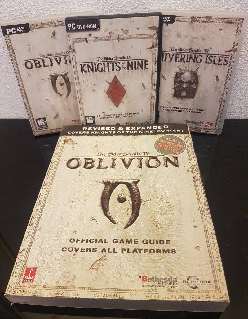 The Elder scrolls IV 3 x spel en 1 x gameguide