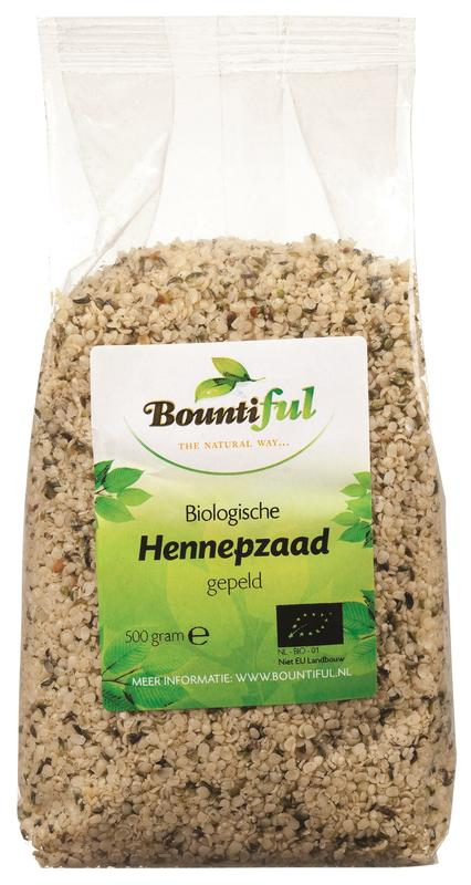 Bountiful hennepzaad 500g
