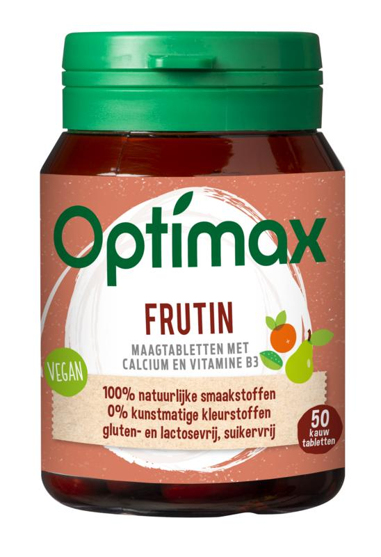 Optimax frutin maagtabletten 50 caps