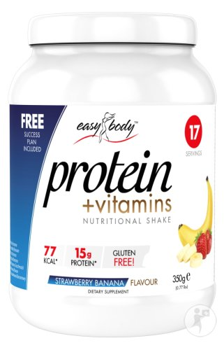 Easy Body protein + vitamins strawberry banana 350g