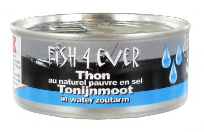 Fish 4 ever tonijnmoot in water zoutarm 160gr