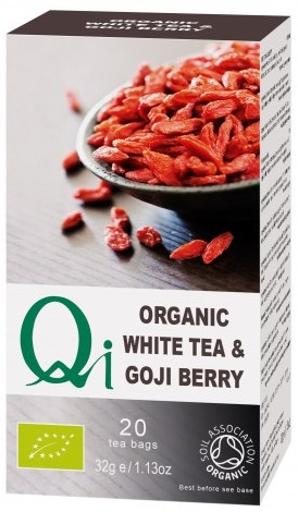 QI Organic: witte thee + gojibes