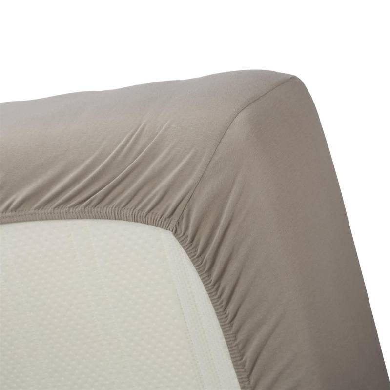 Beddinghouse Jersey hoeslaken taupe