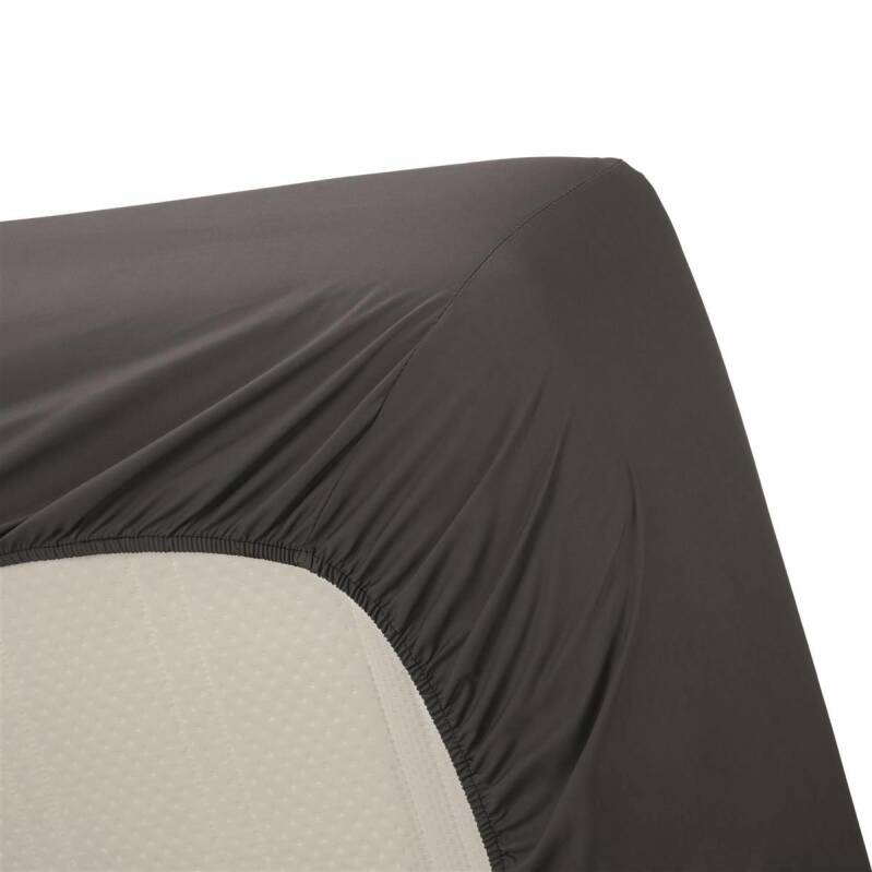 Beddinghouse hoeslaken Percale Anthracite