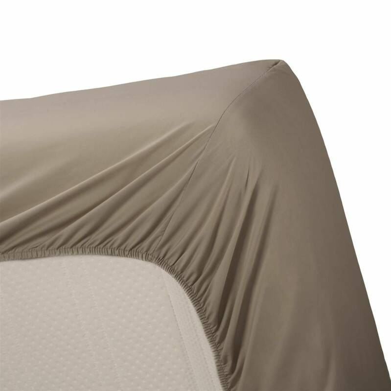 Beddinghouse hoeslaken Percale Taupe