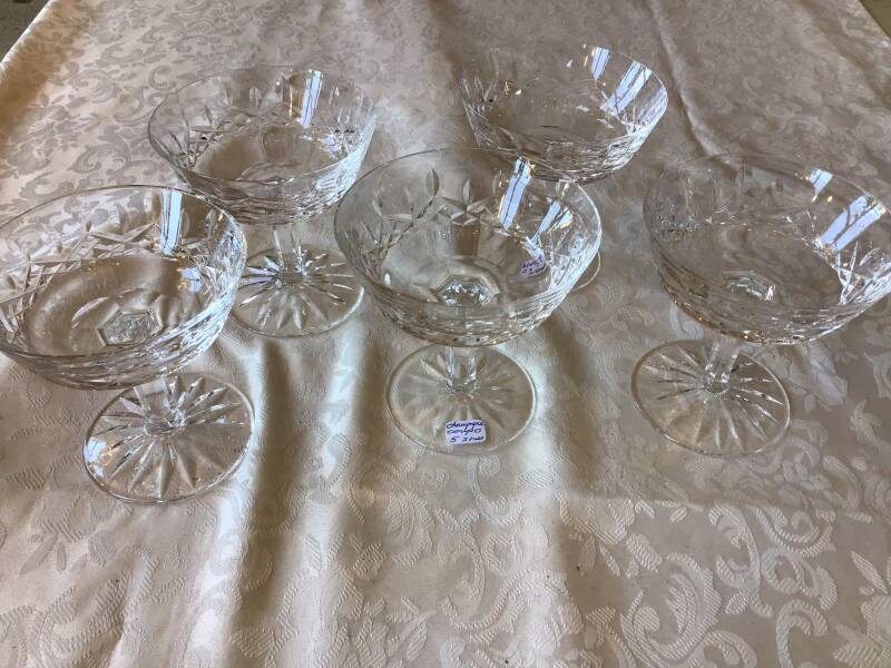 Kristallen champagne coupes, Waterford
