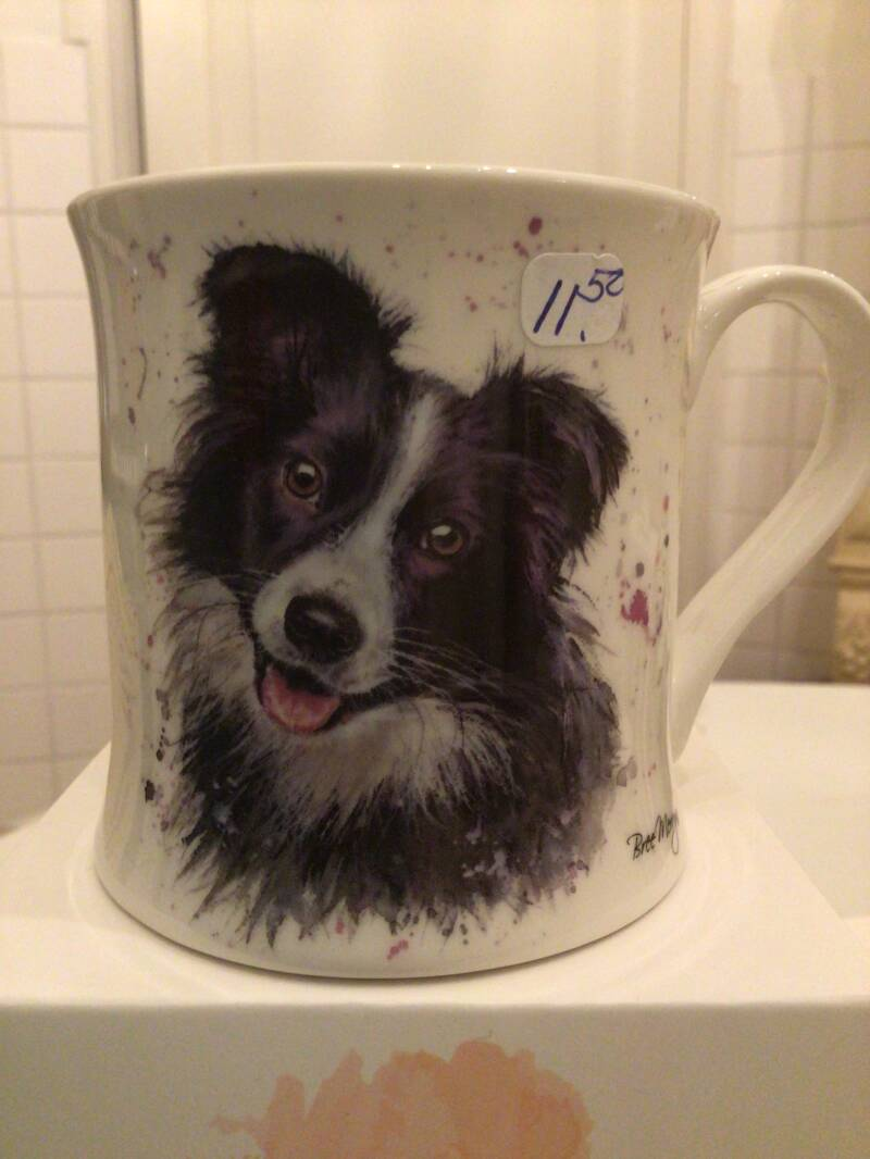 Porseleinen beker Bree Merryn Border Collie