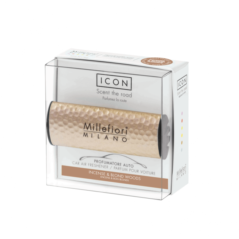 Icon Car 41- Hammered Metal - Incense & Blond Woods