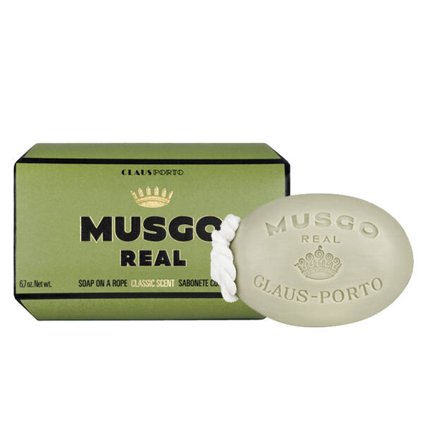 Musgo real - Classic scent soap on a rope  190 gram