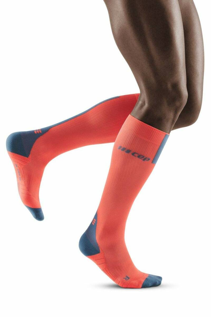CEP RUN COMPRESSION SOCKS 3.0 MEN Coral/Grijs