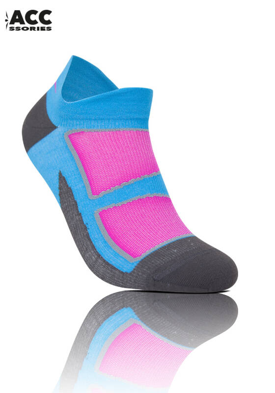 UGLOW LOW SOCK COOLMAX 36-39 DAMES LUCHTBLAUW ROOS