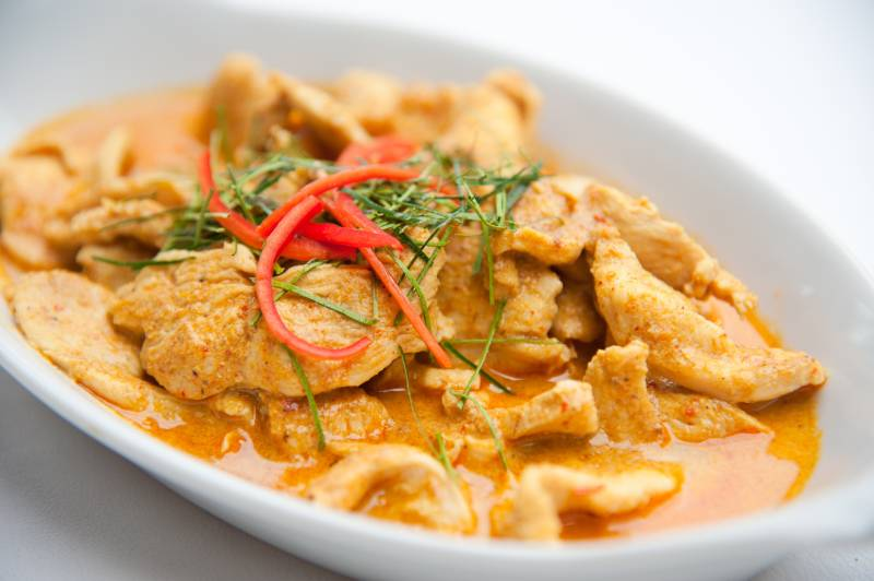 Thaise rode curry met rijst