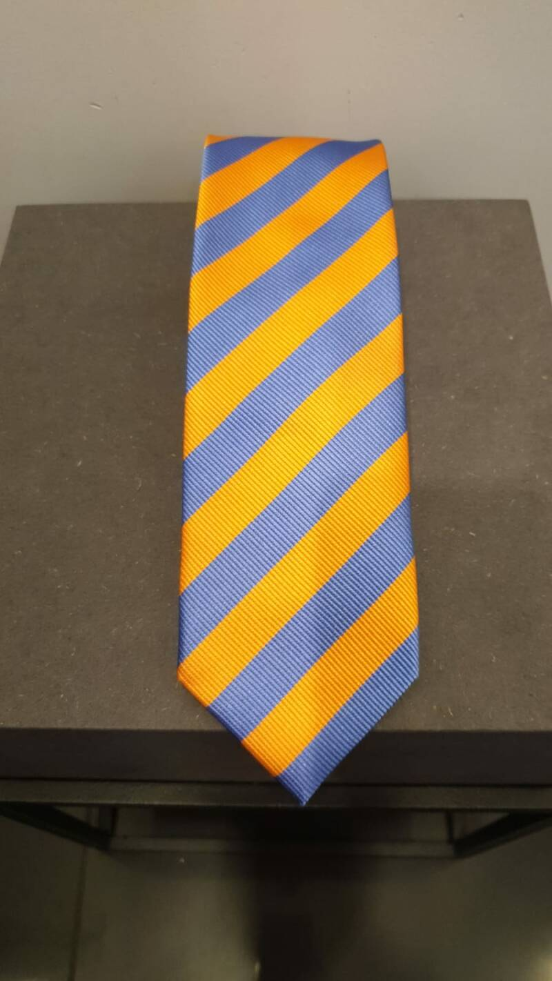 SILK TIE ORANGE & BLUE