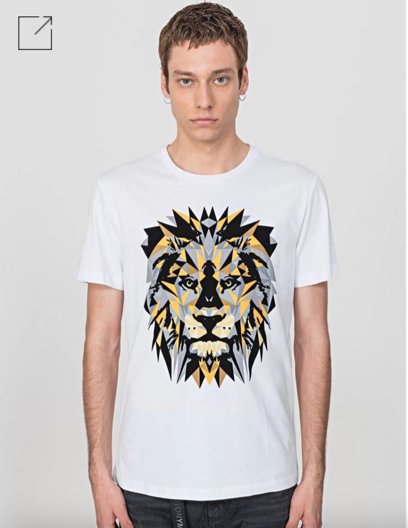 ANTONY MORATO REGULAR-FIT T-SHIRT IN 100% COTTON WITH LION PRINT WIT