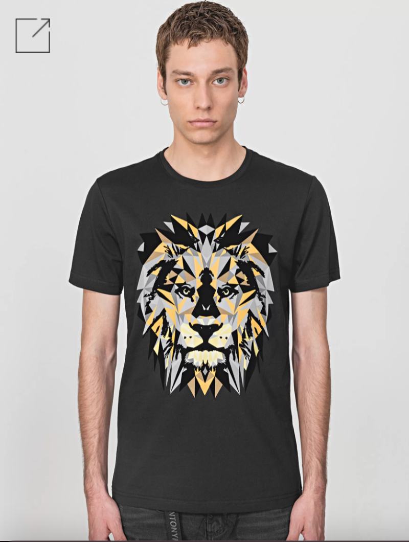 ANTONY MORATO REGULAR-FIT T-SHIRT IN 100% COTTON WITH LION PRINT ZWART