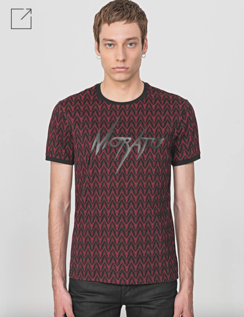 """ANTONY MORATO """"FANCY"""" T-SHIRT IN 100% COTTON JERSEY WITH RUBBER-COATED LOGO DETAIL ROOD"""