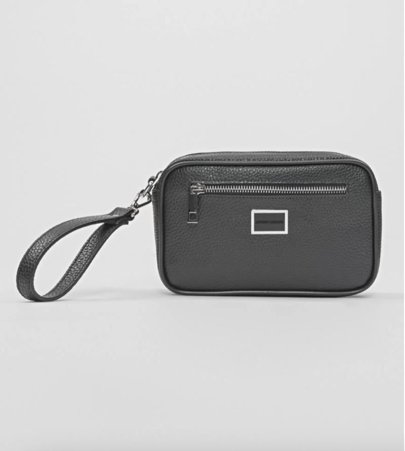 ANTONY MORATO TUMBLED FAUX LEATHER POUCH ZWART