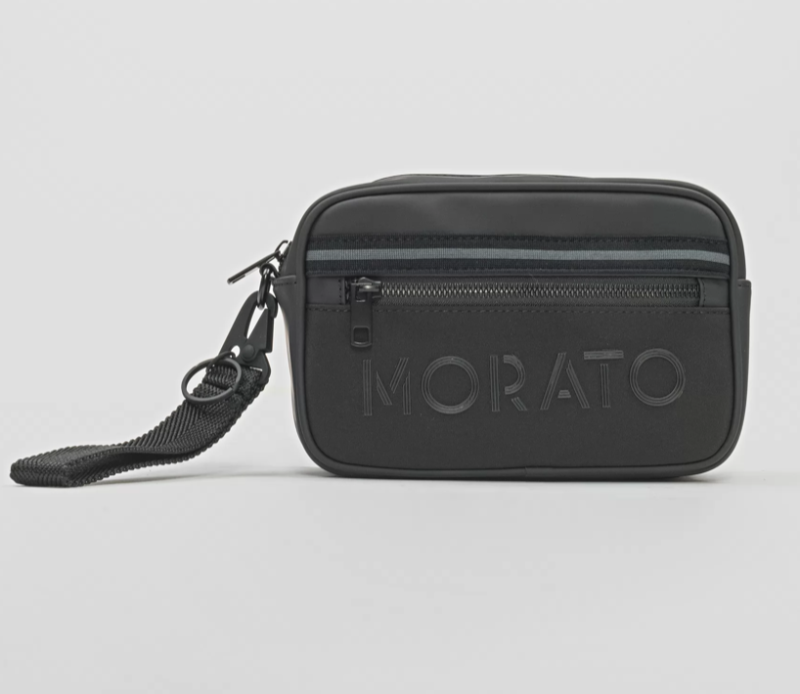 ANTONY MORATO NYLON POUCH WITH SOFT-TOUCH DETAILS ZWART