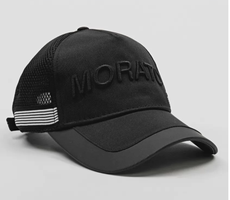 ANTONY MORATO BASEBALL CAP WITH TECHNICAL FABRIC DETAILS AND EMBROIDERED LOGO ZWART
