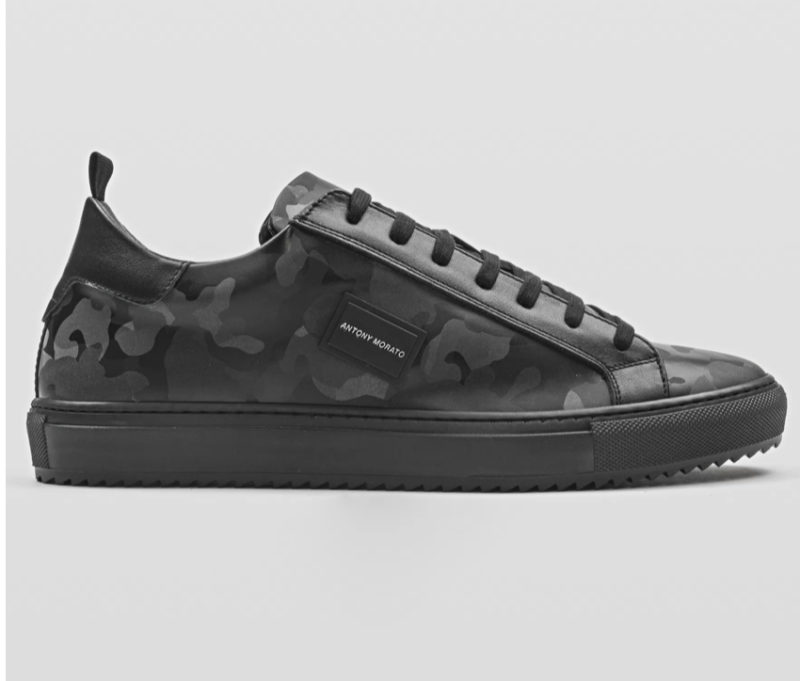 """ANTONY MORATO """"DUGGER METAL"""" LOW-TOP SNEAKER IN SYNTHETIC CAMOUFLAGE FABRIC"""