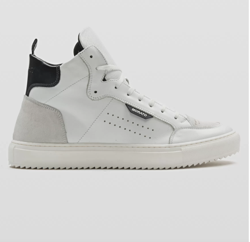 """ANTONY MORATO """"KEEN"""" HIGH-TOP SNEAKER IN SOFT LEATHER WITH BUFFED-LEATHER DETAILING WIT"""