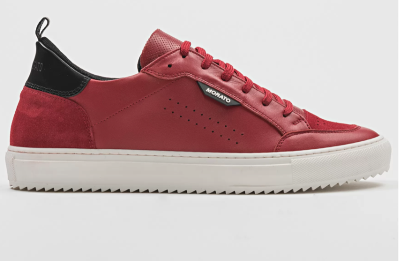 """ANTONY MORATO """"KEEN"""" SNEAKER IN LEATHER WITH BUFFED AND SUEDE DETAILING ROOD"""