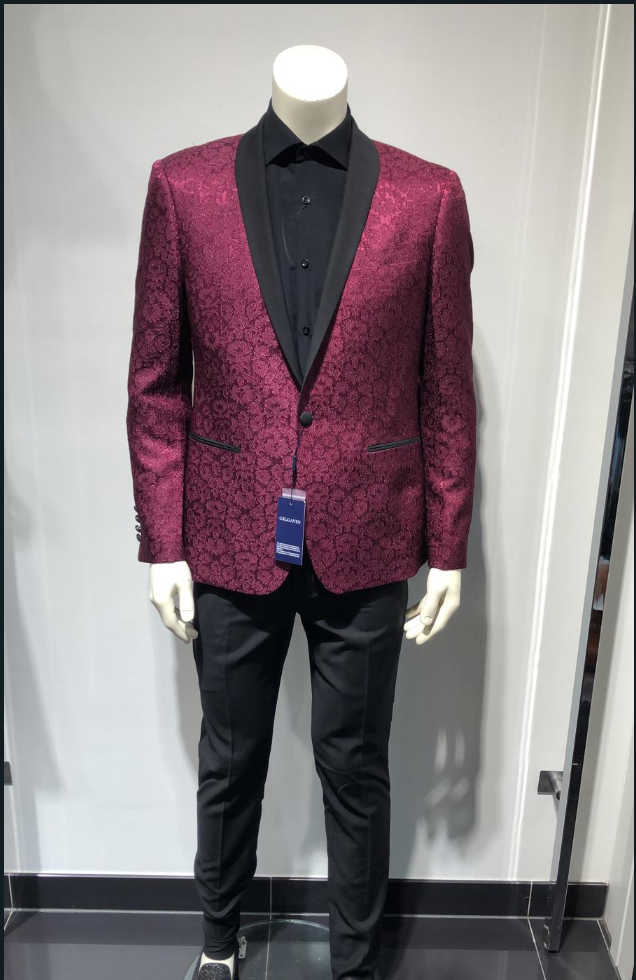 SUIT BLACK/RED (2 PIECES)