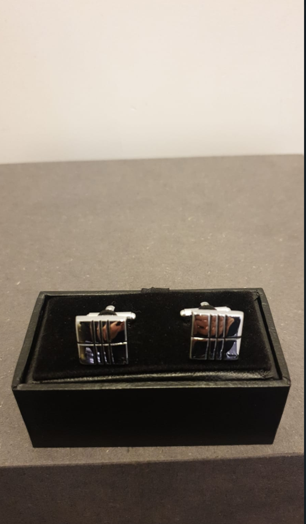 CUFFLINKS PARIS SILVER