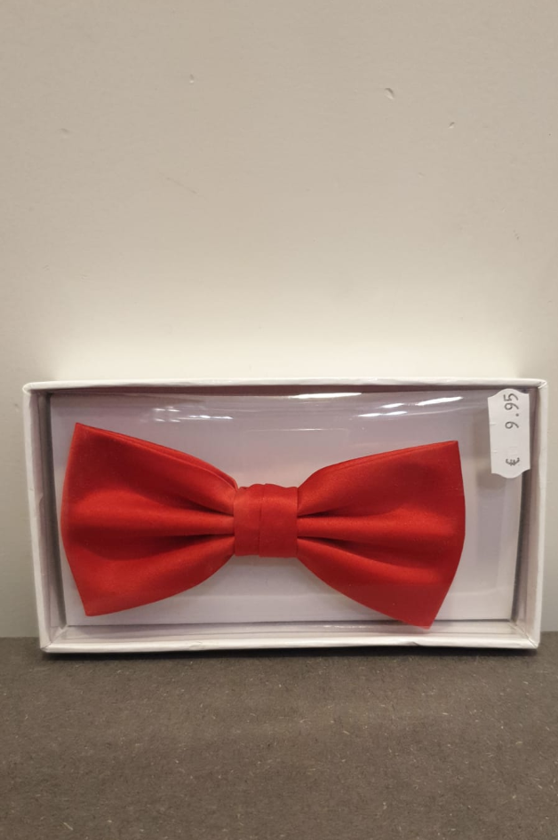 POLYESTER BOW TIE RED