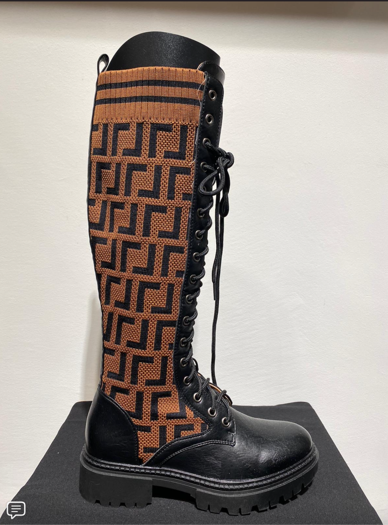 HIGH BOOTS BLACK/BROWN