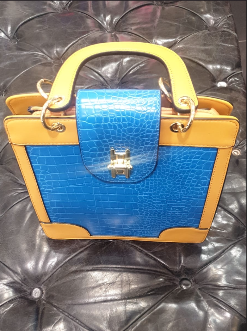 BAG PARIS YELLOW/BLUE